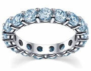 Aquamarine Anniversary Ring