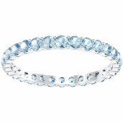 Aquamarine Eternity Band 1.00 cttw.