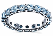 Aquamarine Wedding Band