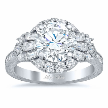 Art Deco Style Halo Engagement Ring - click to enlarge