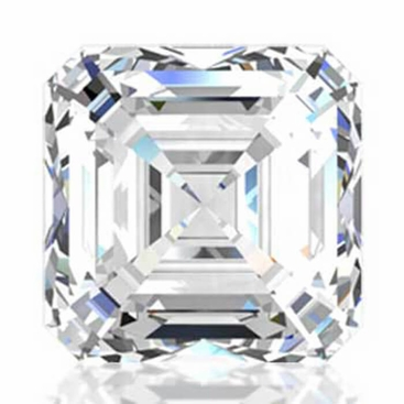 Charles and Colvard Asscher Cut Forever One Moissanite - click to enlarge