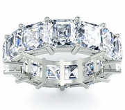 Asscher Wedding Band