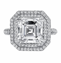 'Astrid' Double Halo Engagement Ring