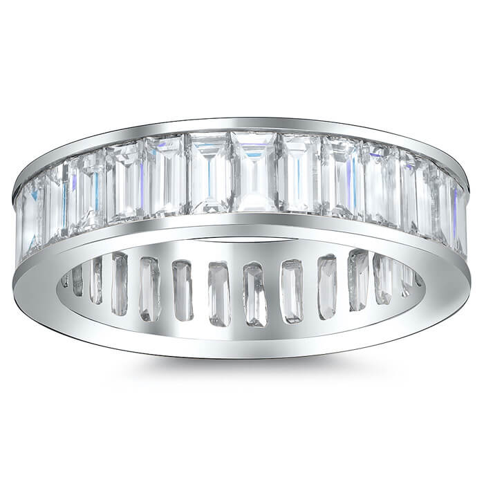 full eternity cut diamond raphael wedding band bands baguette the image platinum half ring collection