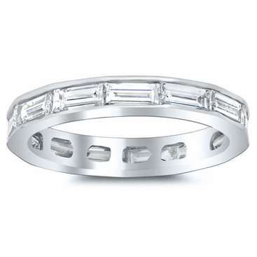 East-West Baguette Diamond Eternity Ring - click to enlarge