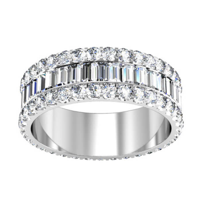 eternity baguette bands special band order ring engagement platinum diamond