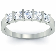 Bar Set 5 Stone Diamond Ring