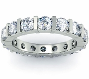 Bar Set Round Diamond Eternity Ring