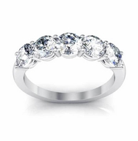1.65 ctw Beautiful 5-Stone Ring with Forever One Moissanite