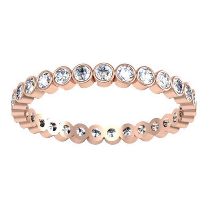 set enlarge marquise round to alternating diamond and bezel click bands eternity band