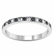 Black and White Diamond Pave Eternity Band (0.50 cttw)