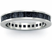 Black Diamond Eternity Wedding Ring