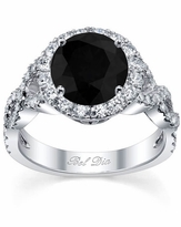Black Diamond Halo with Twisted Shank