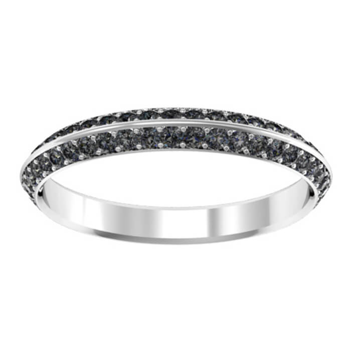 gold eternity itm princess bands ct cut black tw treated diamond band