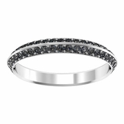 Black Diamond Knife Edge Eternity Band