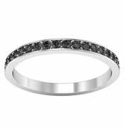 Black Diamond Pave Eternity Ring (0.50 cttw)