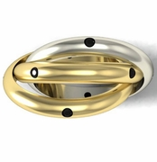 Black Diamond Two Tone Trinity Ring
