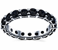 Black Eternity Band Round Brilliant Diamonds