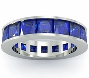 Blue Sapphire Birth Stone Eternity Band