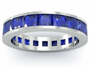 Blue Sapphire Gemstone Eternity Band