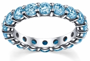 Blue Topaz Anniversary Ring