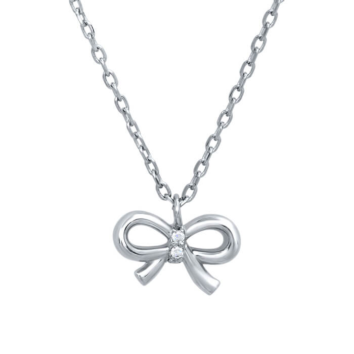 Bow pendant with pave diamond knot bow pendant with pave diamond knot click to enlarge aloadofball Images