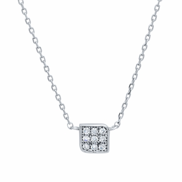 Box Pendant with Pave Diamonds - click to enlarge