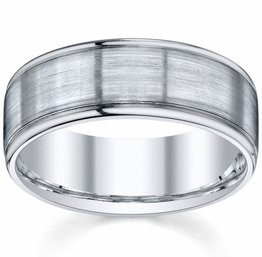 Brushed Mens Wedding Band - click to enlarge