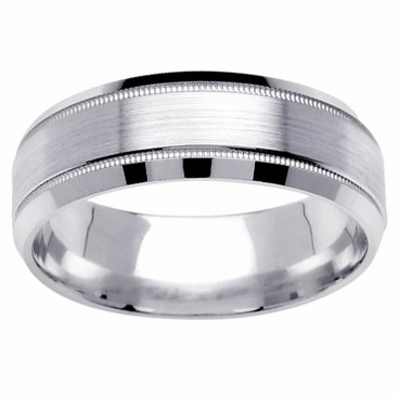 Brushed Wedding Ring for Men in 7mm - click to enlarge