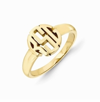 Carved Monogram Ring