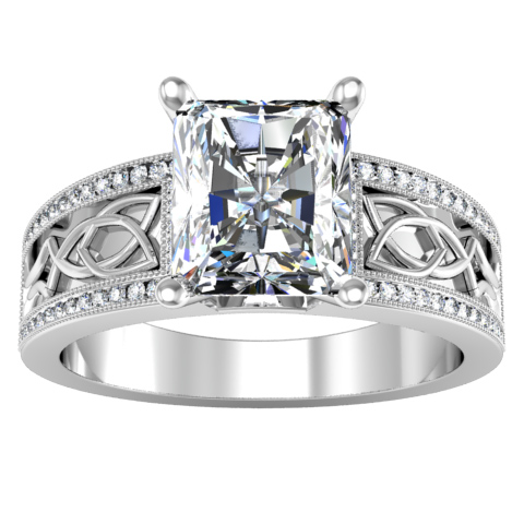 celtic knot engagement ring click to enlarge - Celtic Knot Wedding Rings