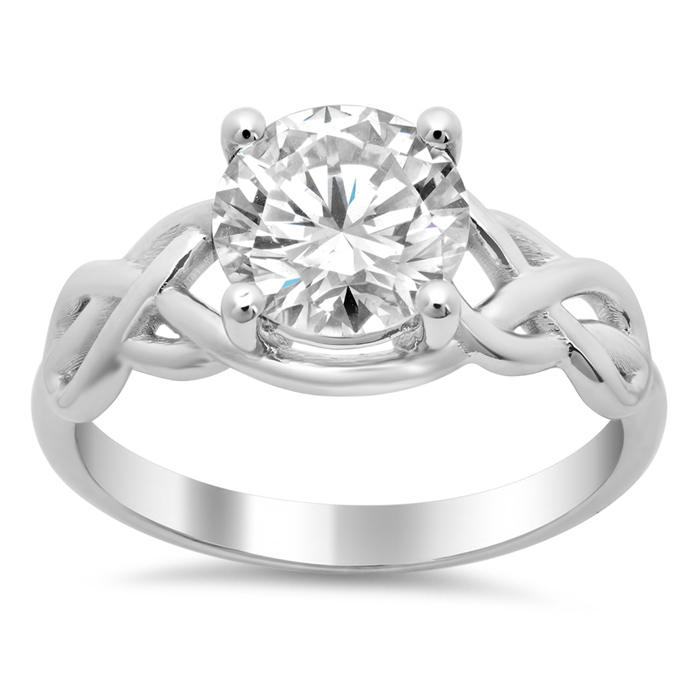 celtic knot solitaire engagement ring click to enlarge - Celtic Knot Wedding Rings