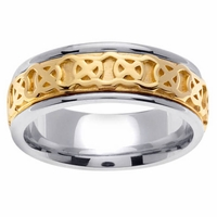 Celtic Knots Ring Two Tone