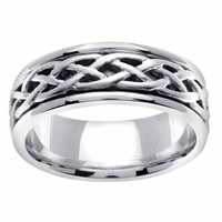 Celtic Knots Wedding Band in Platinum