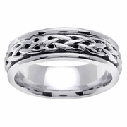 Celtic Knots Wedding Ring in Platinum