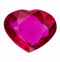 Certified 2.02ct Heart Shaped Madagascar Natural Ruby