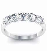 Certified Diamond 5 Stone Ring