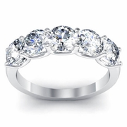 Certified Engagement Ring with Five Diamonds