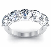 Certified Five Stone Diamond Engagement Ring