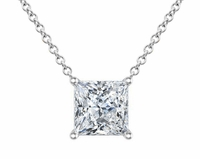 Certified Princess Cut Diamond Solitaire Pendant