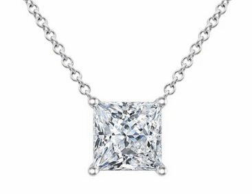 rose rg pendant cut per diamond gold in bail princess mirabess solitaire double products
