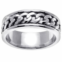 Chain Link Design Platinum Ring