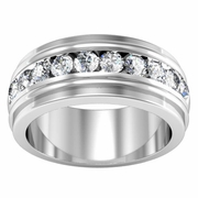 Channel Men's Diamond Ring