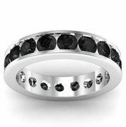 Channel Set Black Diamond Eternity Band