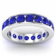 Channel Set Sapphire Eternity Band