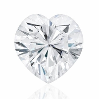 Charles and Colvard Heart Shaped Forever One Moissanite