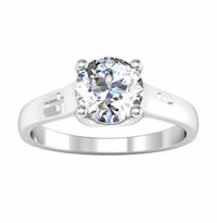 Christian Cross Engagement Ring