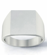 Chunky Square Trendy Signet Ring Men