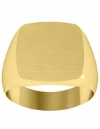Classic Gold Signet Ring for Men