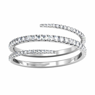 Coiled Diamond Wedding Ring - click to enlarge